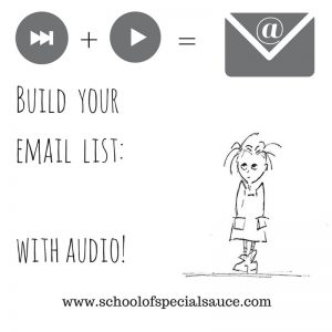 Build your email list with audio